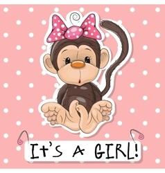Monkey girl vector