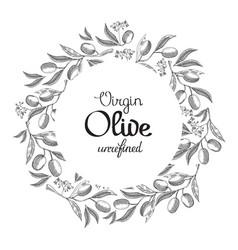 Monochrome colored filigree wreath hand drawn vector
