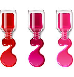 Nail polish blots vector