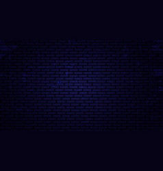 night brick wall background vector image