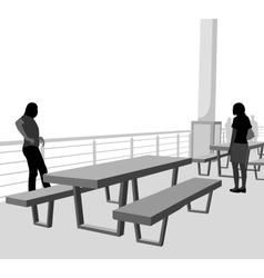 Outdoor table vector