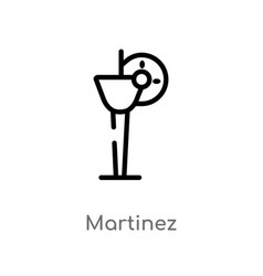 Outline martinez icon isolated black simple line vector