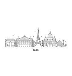 paris skyline france city buildings vector image