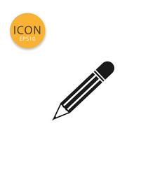 pencil icon isolated flat style vector image