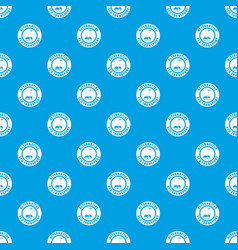 Personal gyro scooter pattern seamless blue vector
