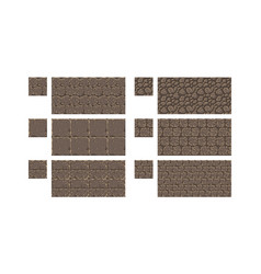 pixel art seamless ancient stone texture vector image