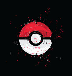 Pokeball pokemon go grunge vector