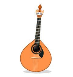 portuguese fado guitar vector image