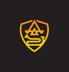 Sa letter logo design with creative modern trendy vector