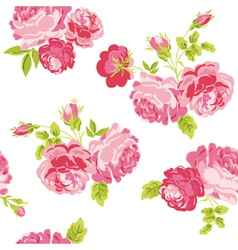Seamless floral shabchic background vector