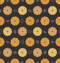 Seamless Pattern with Set of Different Pizza vector image