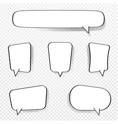 set comic speech bubbles blank comic bubbles vector image