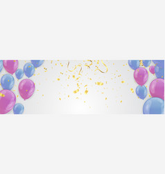 Set of colored balloons frame composition with vector