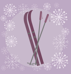 skis flat vector image