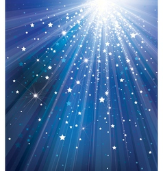 sky background with lights and stars vector image