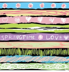 Spring background in sorbet colors vector