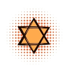 Star of david comics icon vector