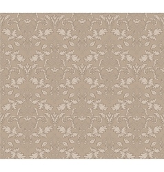 stylish abstract beige floral vintage seamless vector image