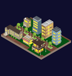 suburbia buildings vector image