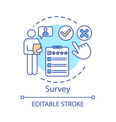 Survey concept icon rating satisfaction review vector