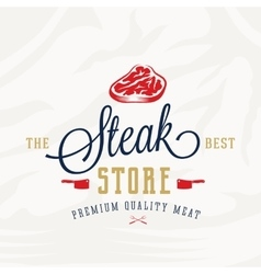 The Best Steak Store Vintage Typography Label vector image