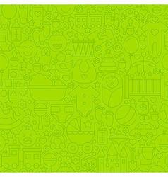 Thin line green batoys seamless pattern vector