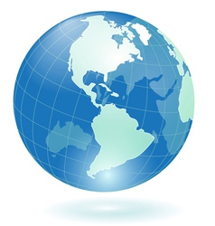 transparent blue globe vector image