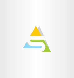 triangle logo letter s logotype vector image
