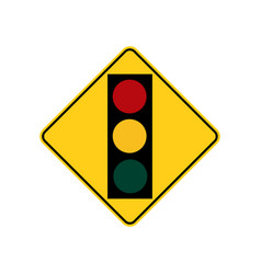 usa traffic road signs traffic signal light vector image