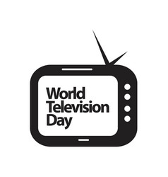 World television day template design vector