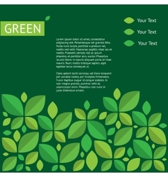 about green ecology protection of vector image vector image