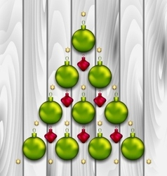 Abstract Tree Made of Christmas Balls vector image vector image