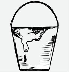 Bucket of paint vector image