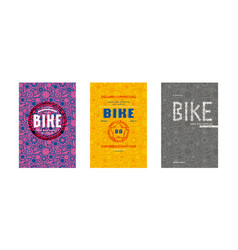 covers design for bike shop catalog vector image vector image