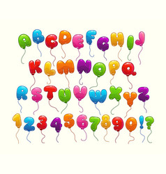 funny balloon alphabet vector image vector image
