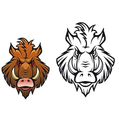 Head of angry boar vector image