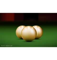 realistic billiard ball vector image