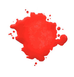 red blot- vector image