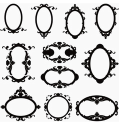 set of decorative horizontal and vertical elements vector image