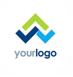 triangle shape color logo vector image