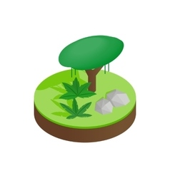 Tropical forest isometric 3d icon vector image vector image