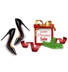 black stiletto shoes sales realistic vector image vector image
