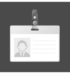 Blank Identification Card Badge ID Template vector image vector image
