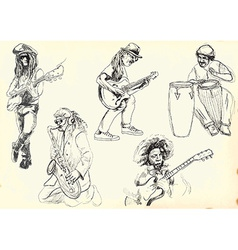 collection - Musicians vector image