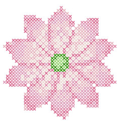 cross stitch lotus vector image