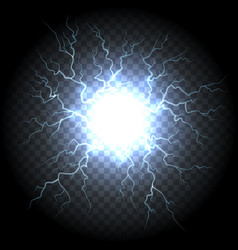 electric ball lightning vector image vector image