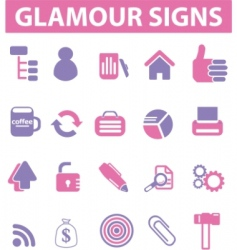 glamour pink signs vector image