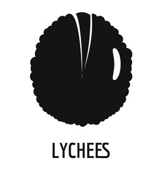 lychee icon simple style vector image
