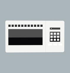 abstract creative funny cartoon microwave set vector image