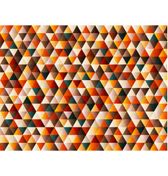 abstract triangle pattern retro color style vector image